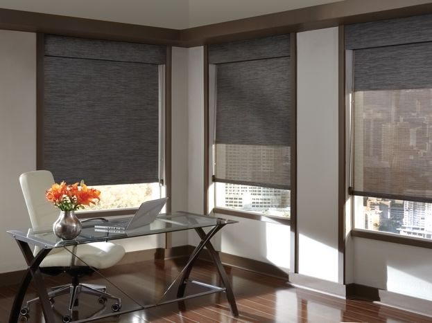 Dual Roller Shades System : Black out shades dual accent blinds